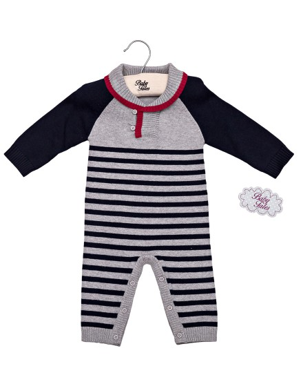 "Costumas tricotat cu maneca lunga   ""Little Sailor"""
